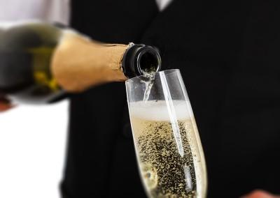 Bruisend glas champagne